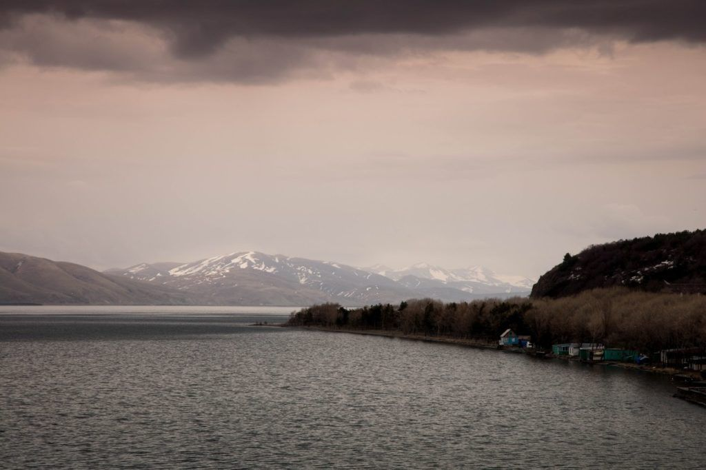 Beautiful view of Lake Sevan, one of the best things to do in Armenia.