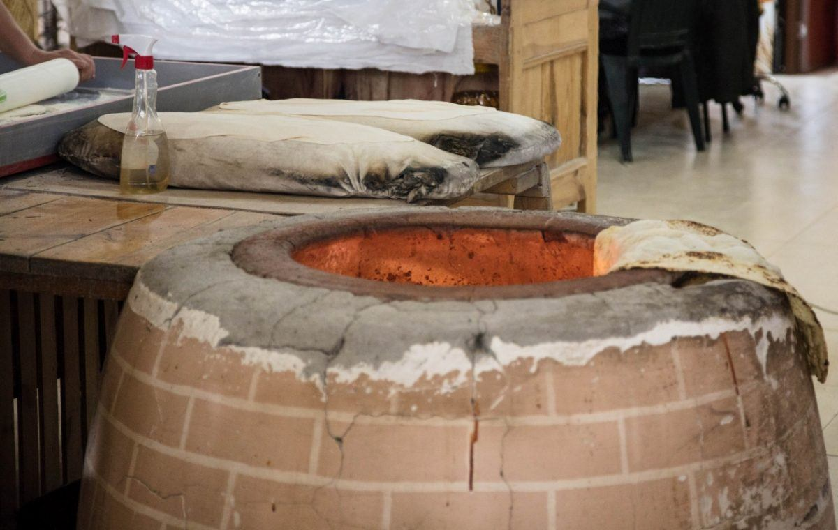 Cooking bread in Armenia.