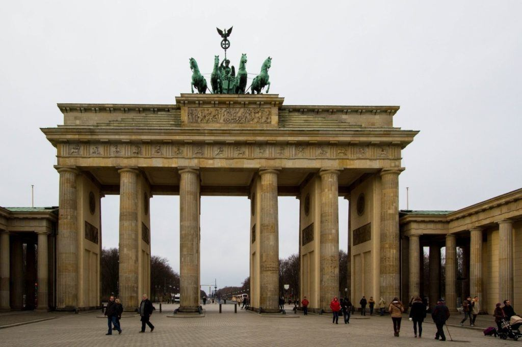 One of Berlin's top sights - the Brandenburg Gate.
