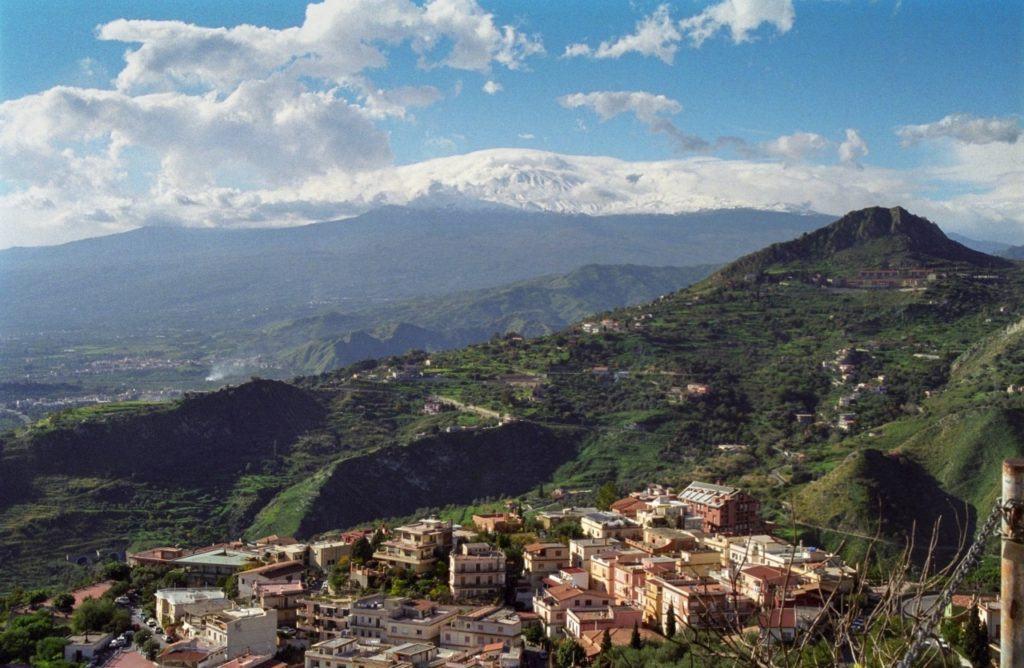 Mt. Etna seen from Taormina.