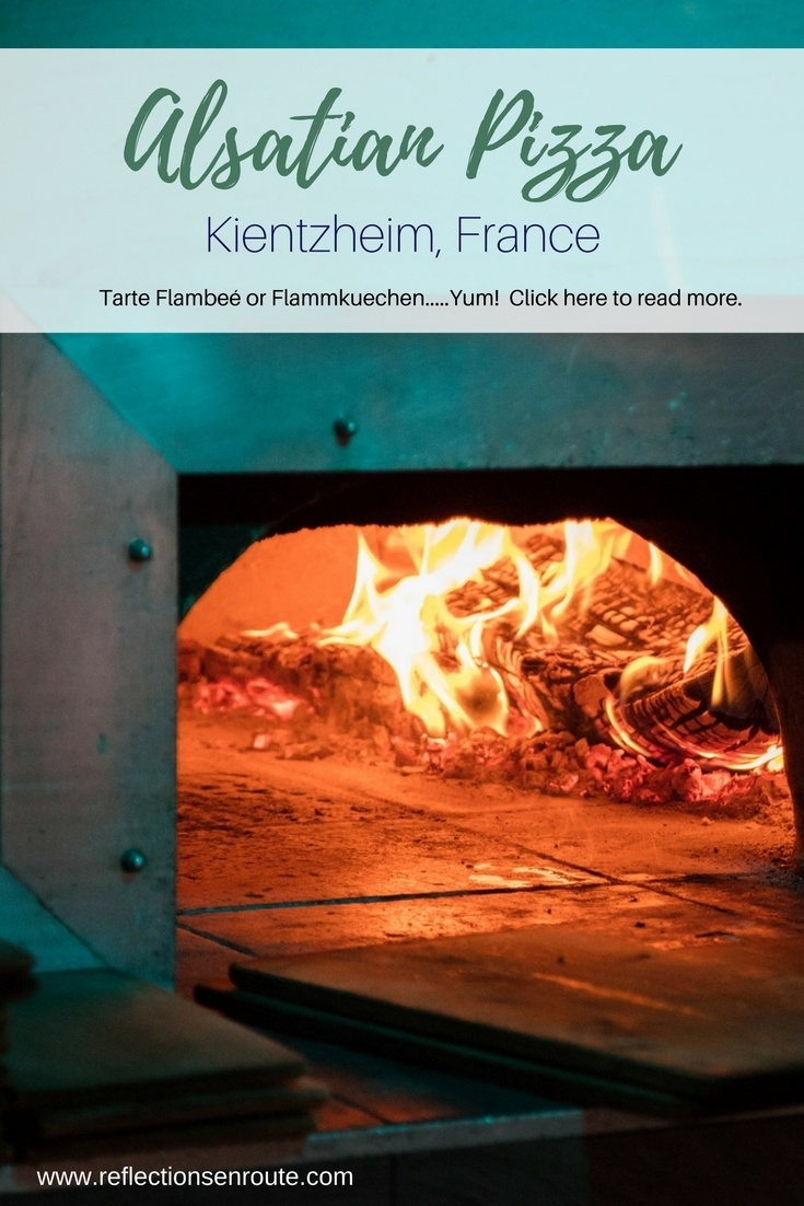 The best pizza in France - Flammkuechen or Tarte Flambee!