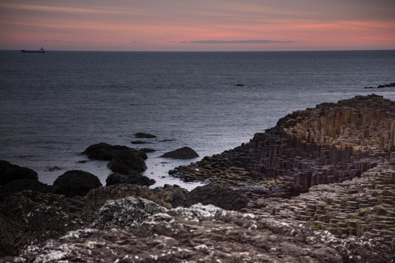 Hexagonal stones line the Antrim Coast - The Giant's Causeway