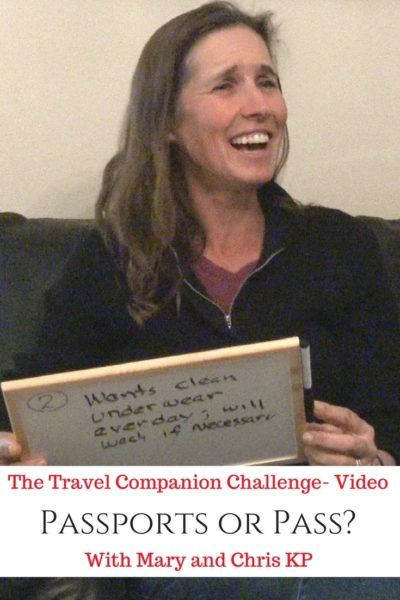 The Travel Companion Challenge With Mary and Chris KP