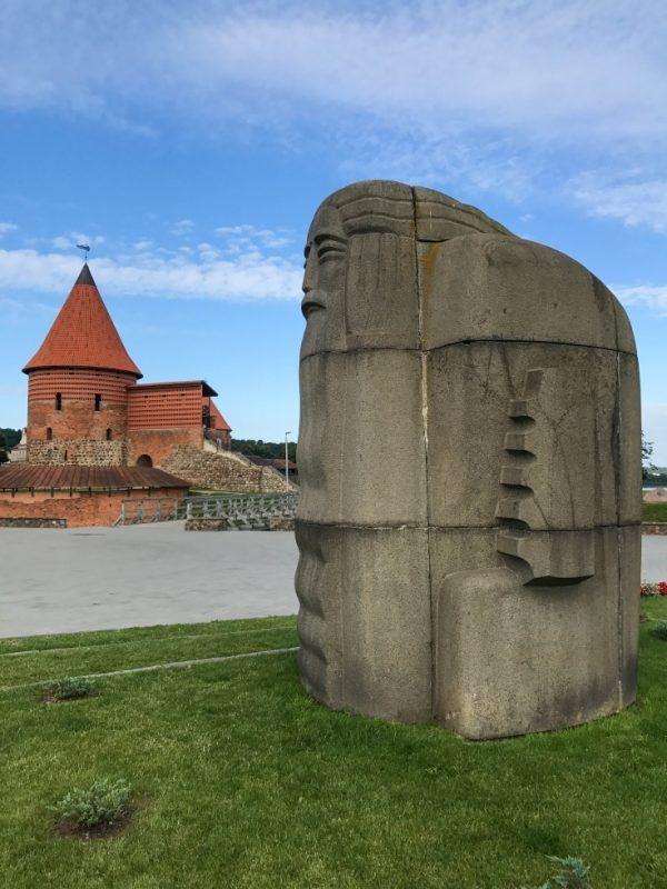 Kaunas Castle Statue is part of the charm of Kaunas, Lithuania