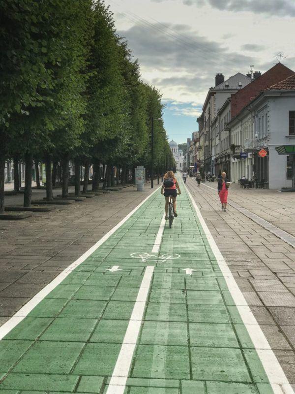 Kaunas Bike Routes like this one will take you right through Kaunas Old Town