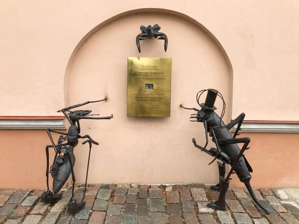 Kaunas Street Sculpture - Old Town Kaunas, Lithuania