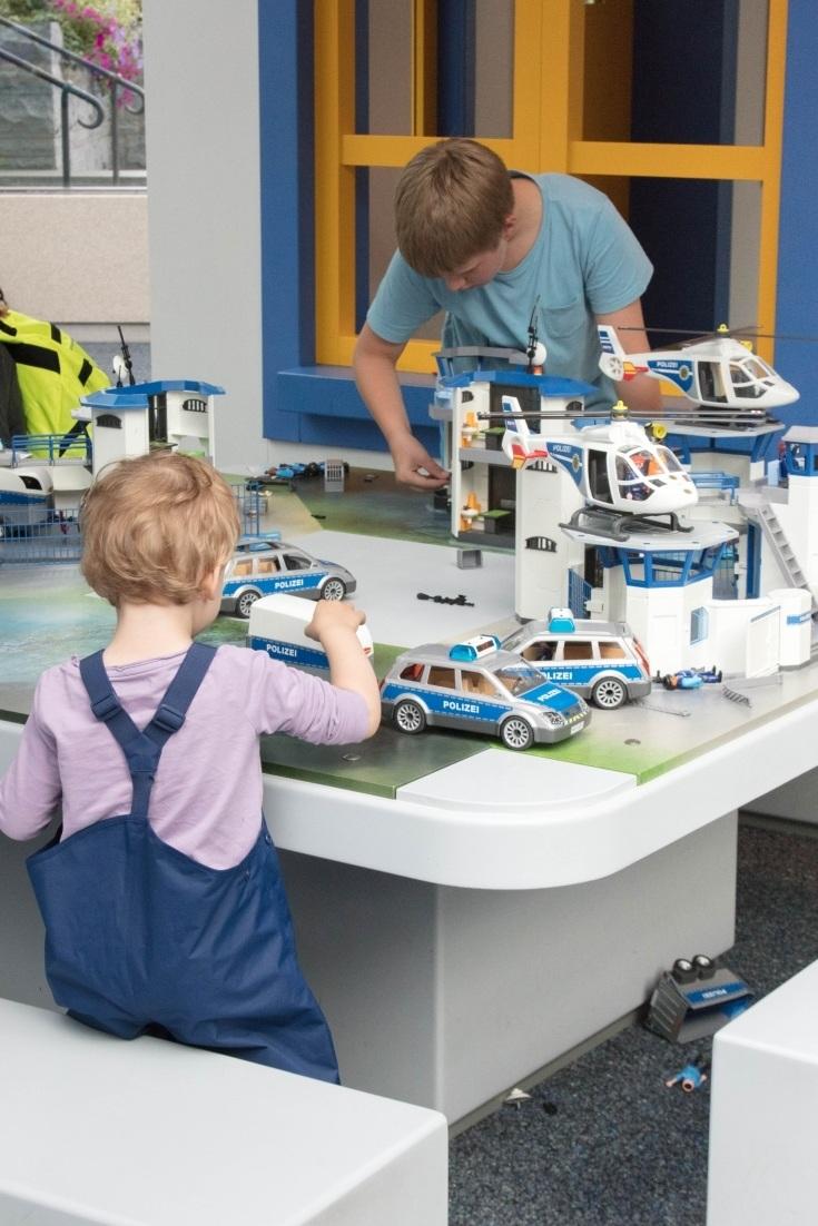 A Playmobil police station.