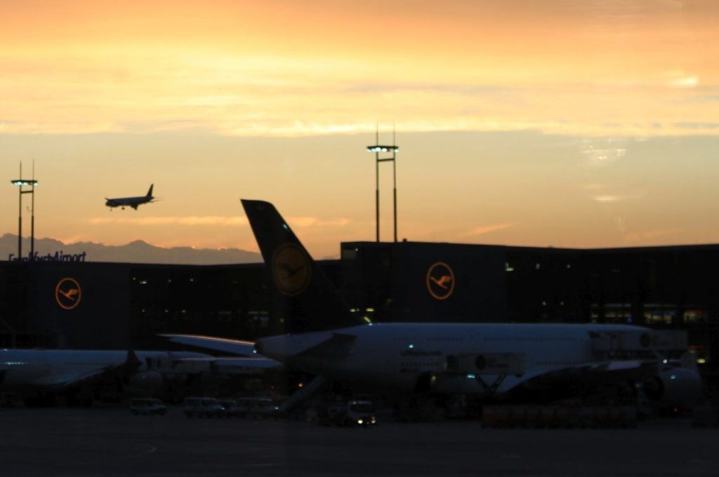 Frankfurt Airport arrivals - where the Schengen begins.
