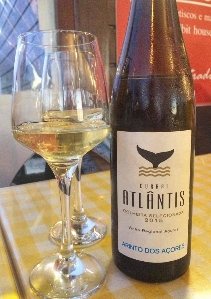 A local wine from the Azores