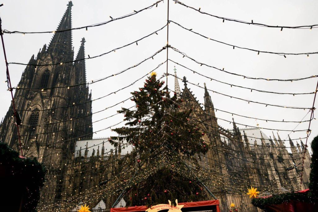 Cologne, Germany Christmas Market and Dom.