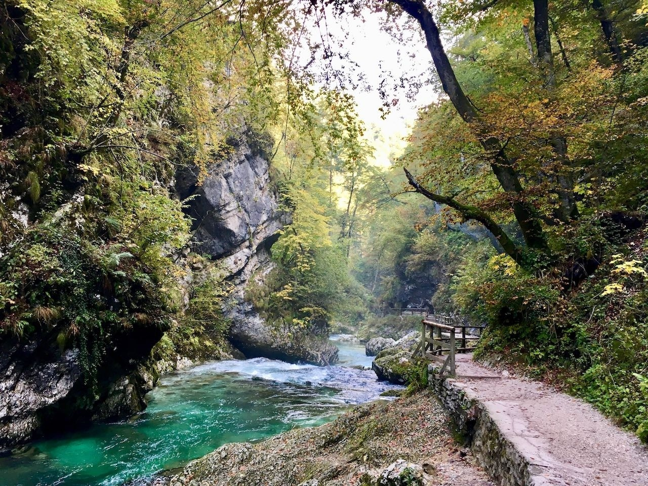Lake Bled river, Slovakia.