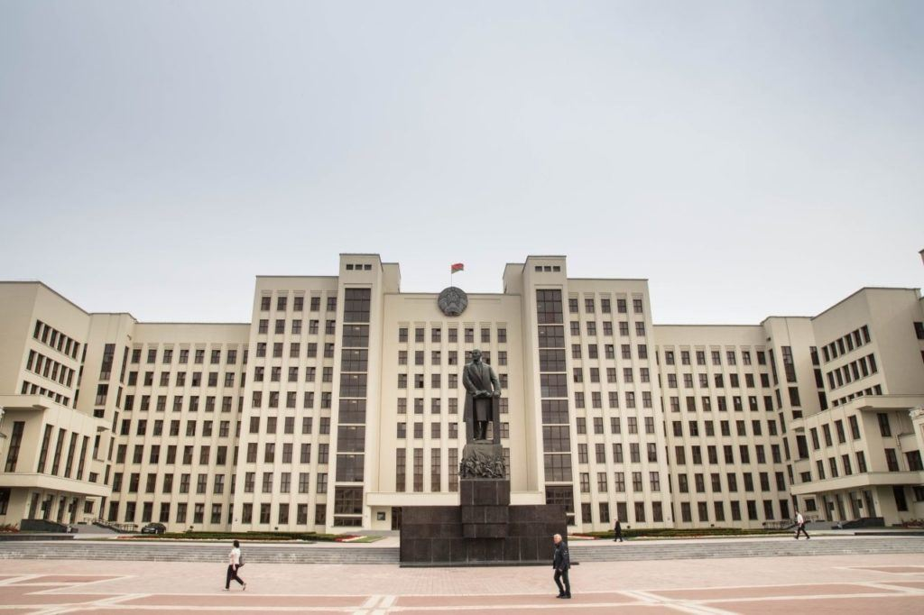 Visit Belarus and see Independence Square in Minsk.