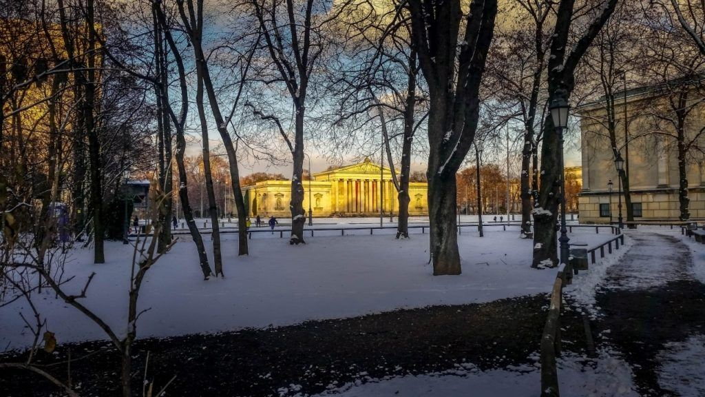 Germany winter travel may include the Snow covered, Munich, Germany.