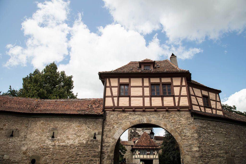 Beautiful Rothenburg half-timbered arch.