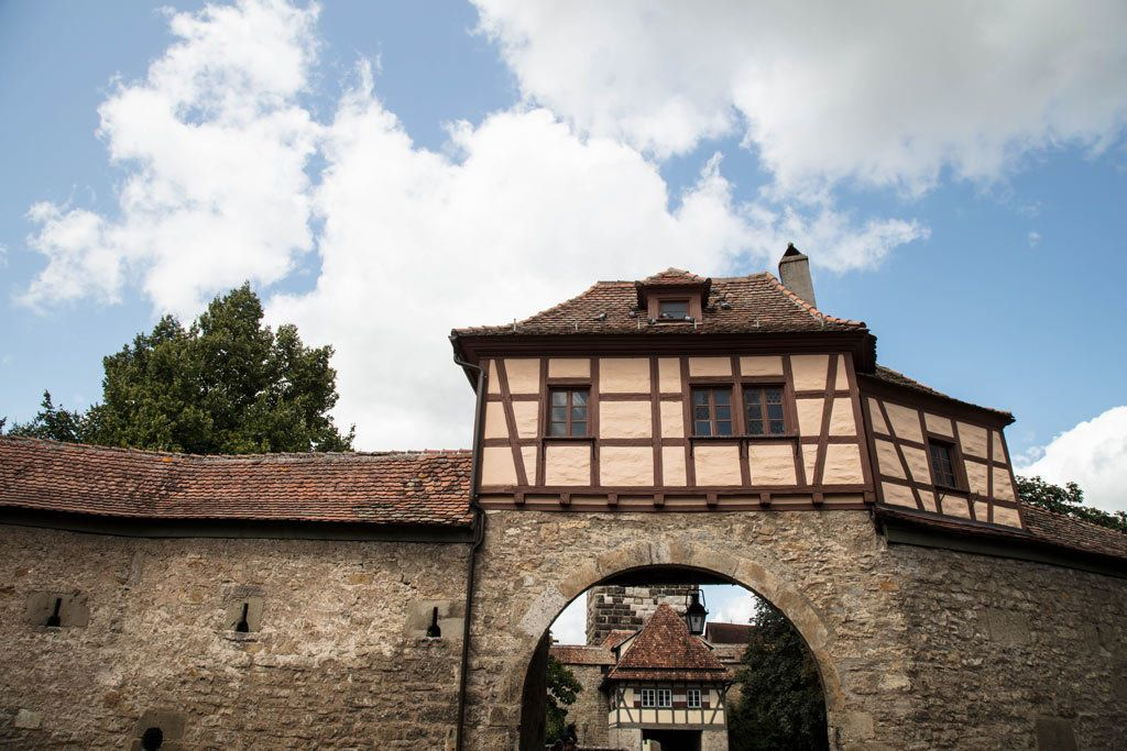 Beautiful Rothenburg half-timbered arch