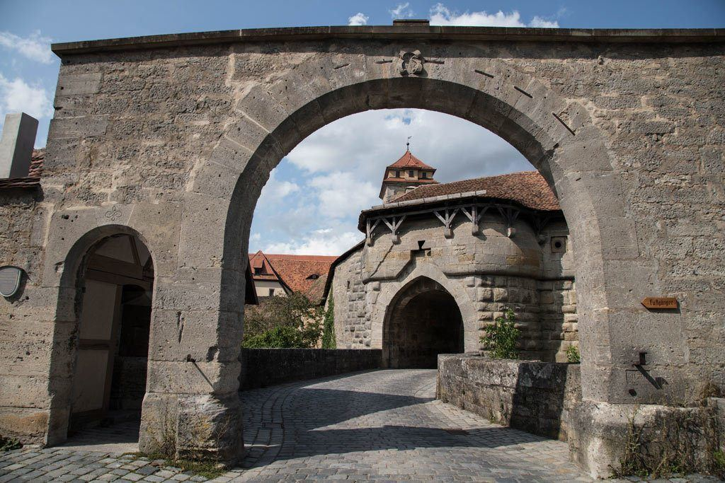 Spitalbastion - Massive 17th century defensive work on Rothenburg Town Walls