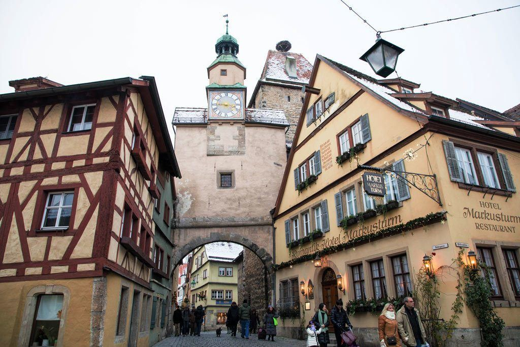 Romantic Rothenburg Hotel in medieval building.