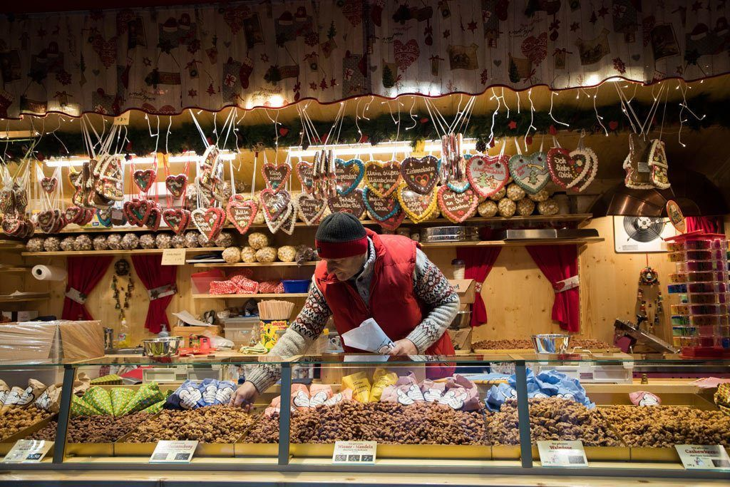 Christmas Market, Rothenburg - Sweets and treats booth