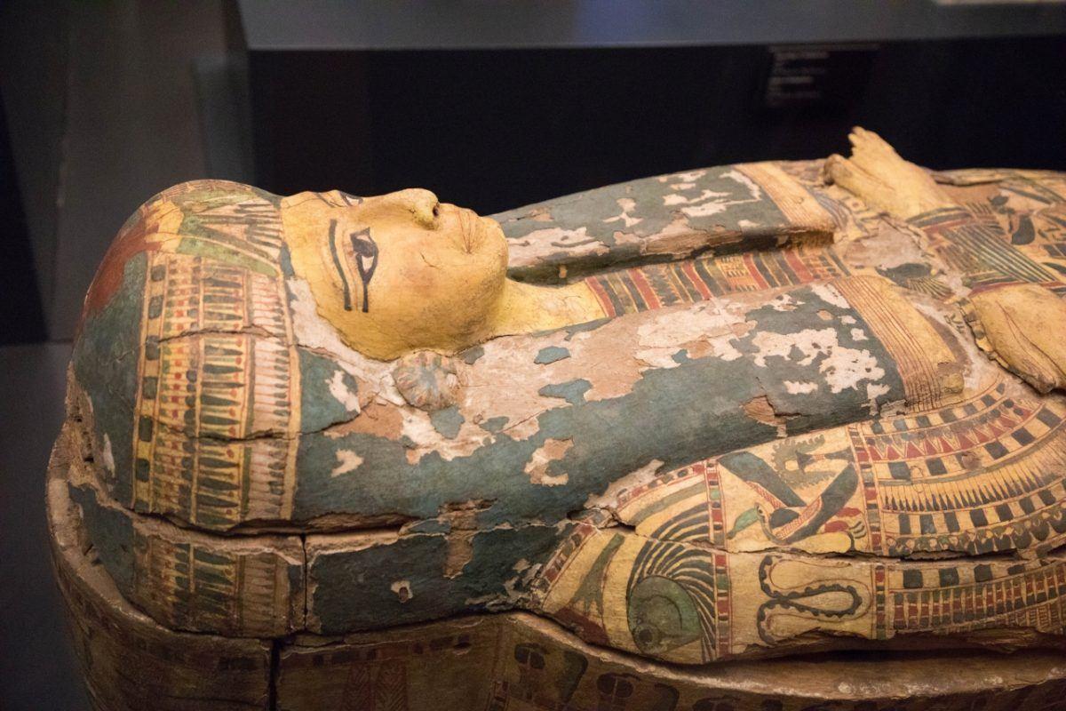 An Egyptian coffin
