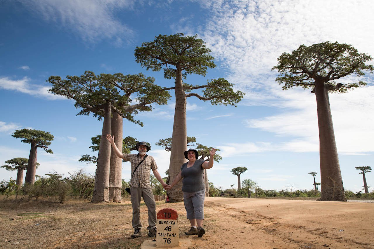 Jim and Corinne travelign in Madagascar.
