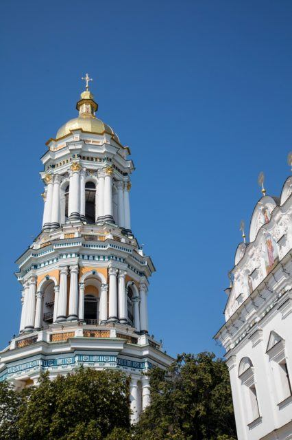 A Baroque tower in Kiev and must-see in any Kiev travel guide.