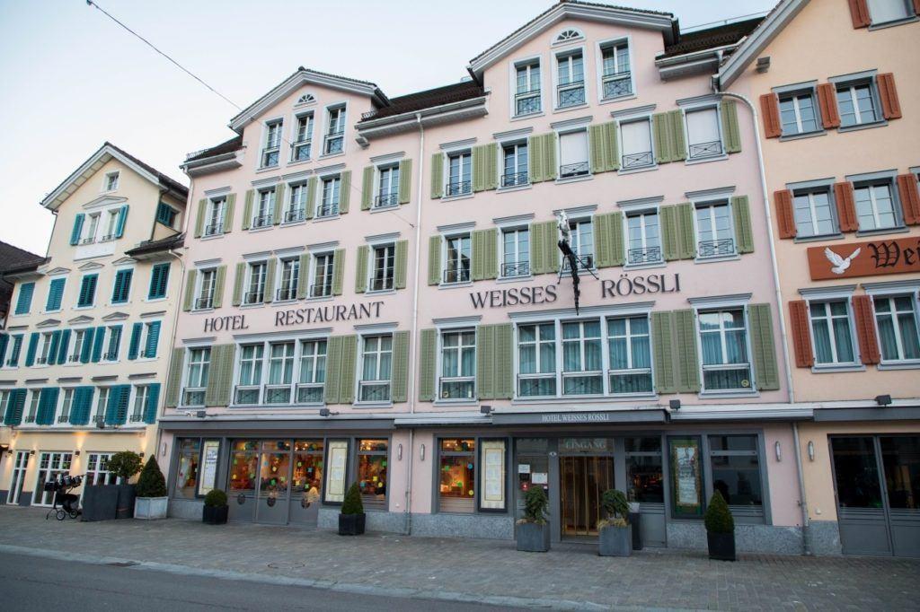 Hotel Restaurant Weisses Rossli in Brunnen.