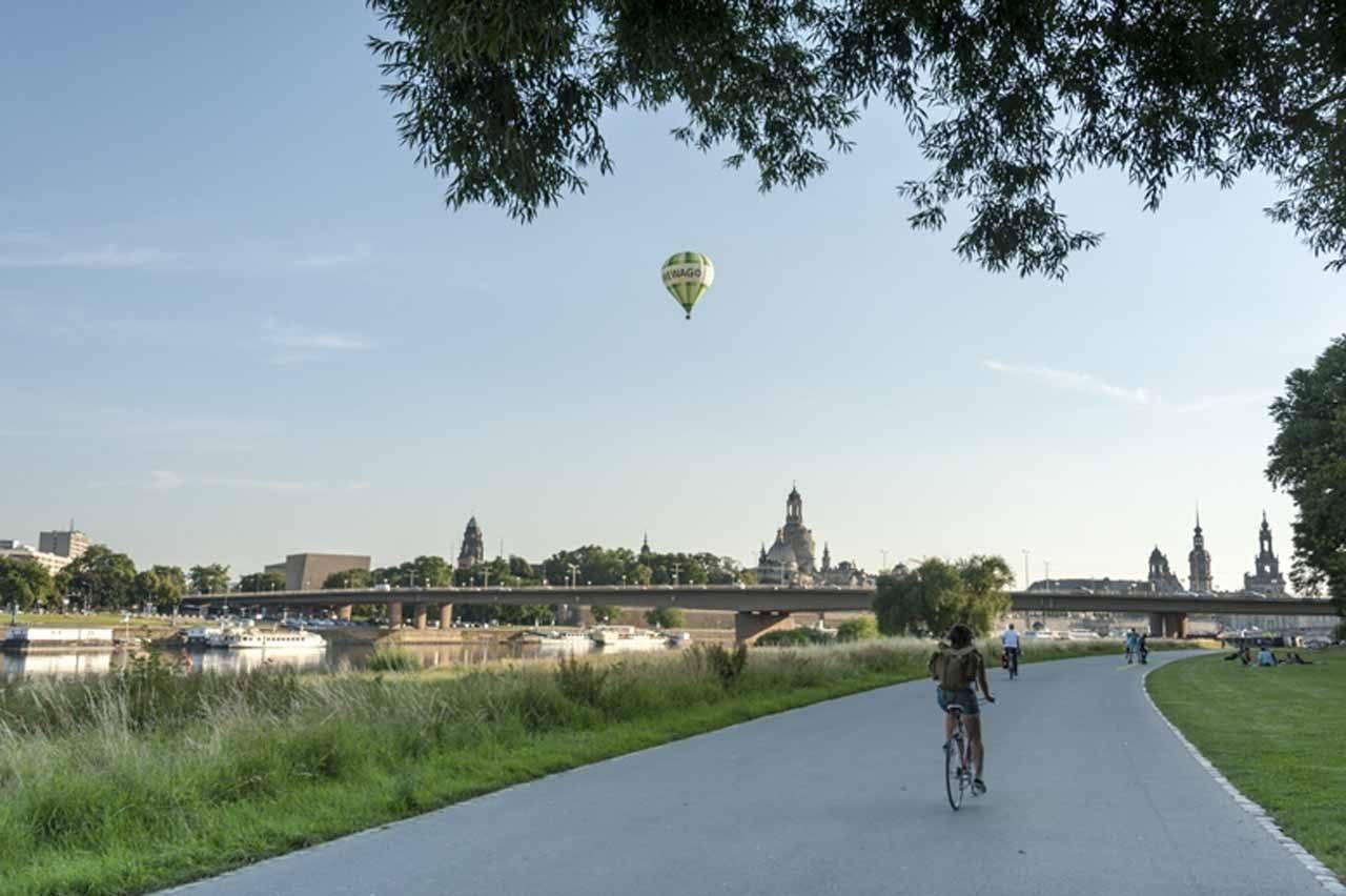 Dresden bike path.