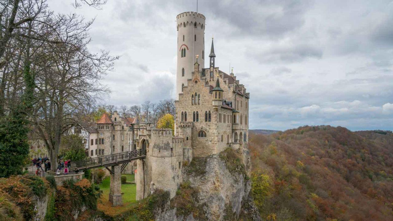 Liechtenstein castle on an early German spring day.
