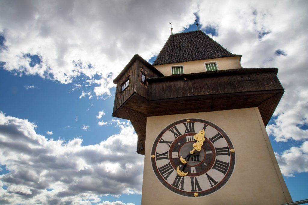 Clocktower of Schlossberg, the number one attraction in Graz.