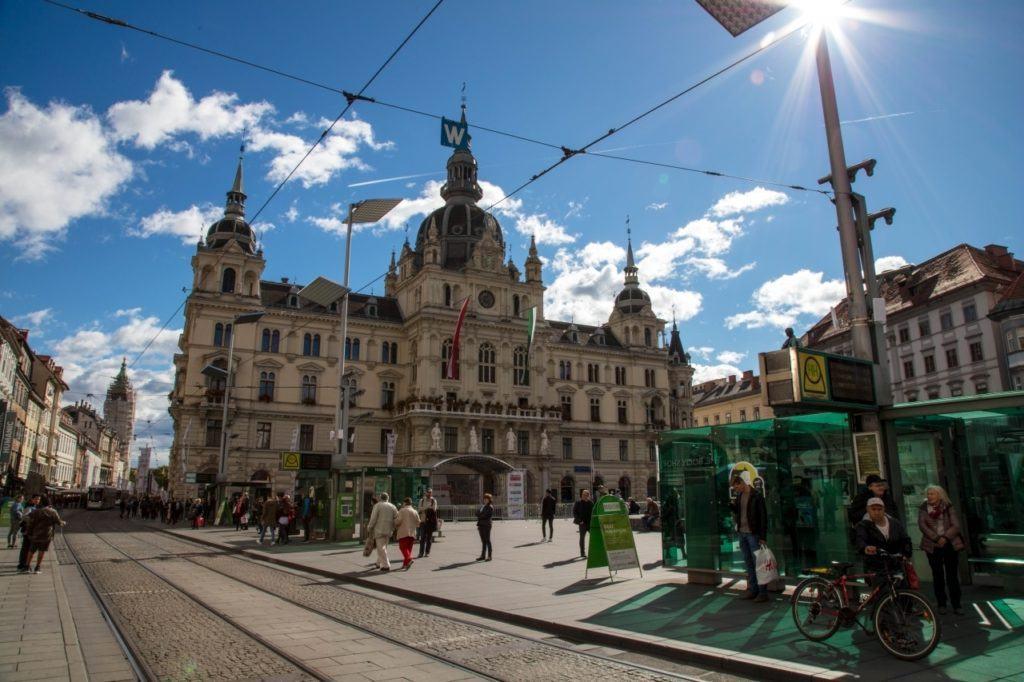 Downtown Graz.
