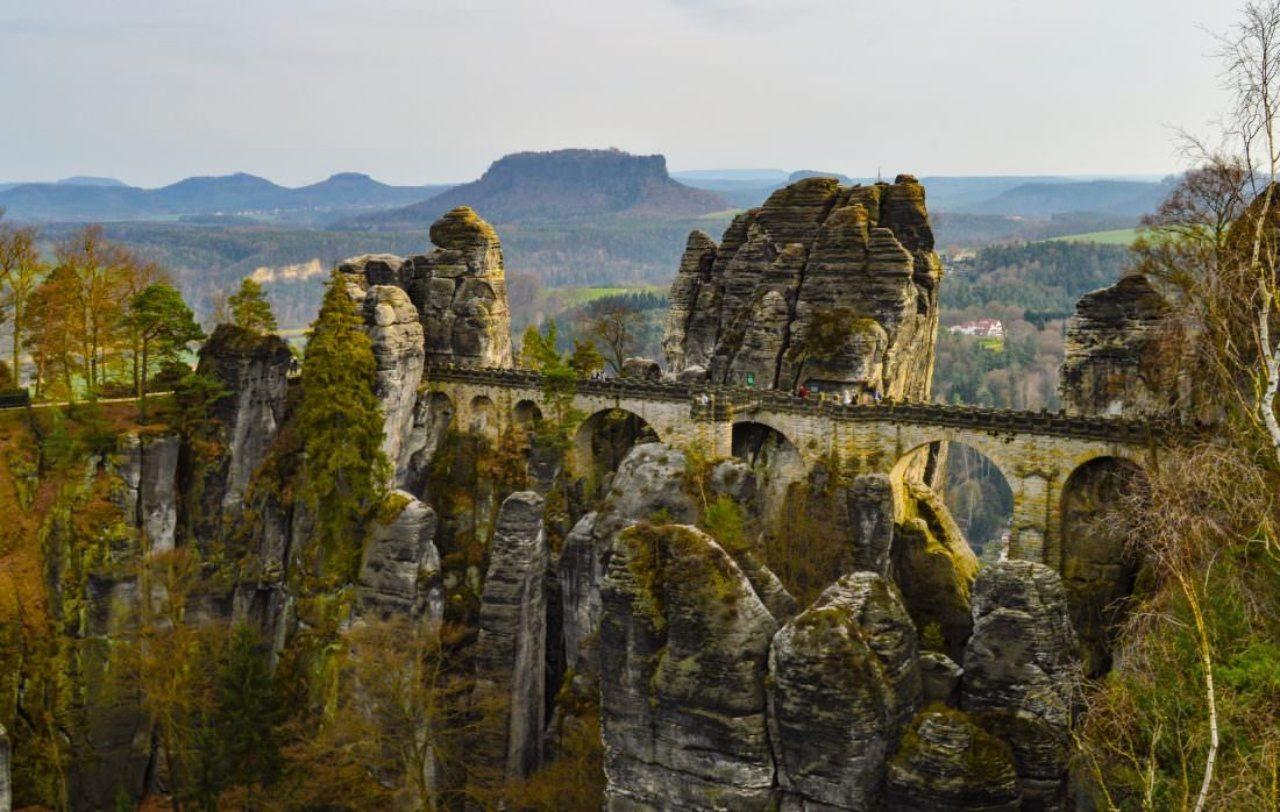The Bastei Bridge.