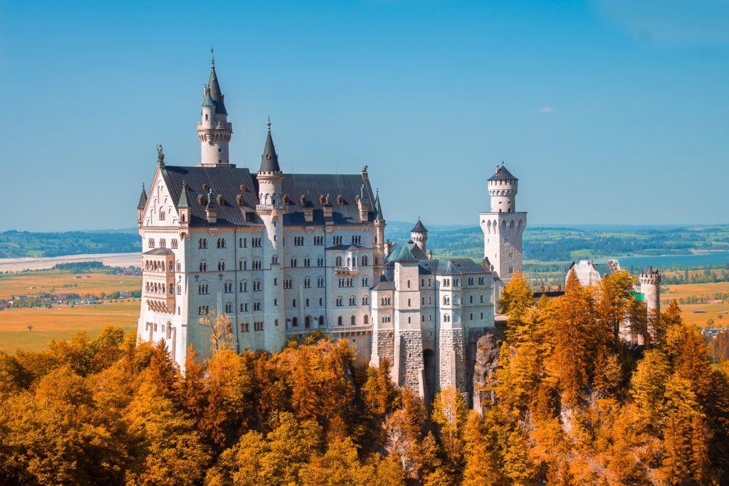 Neuschwanstein in the fall.