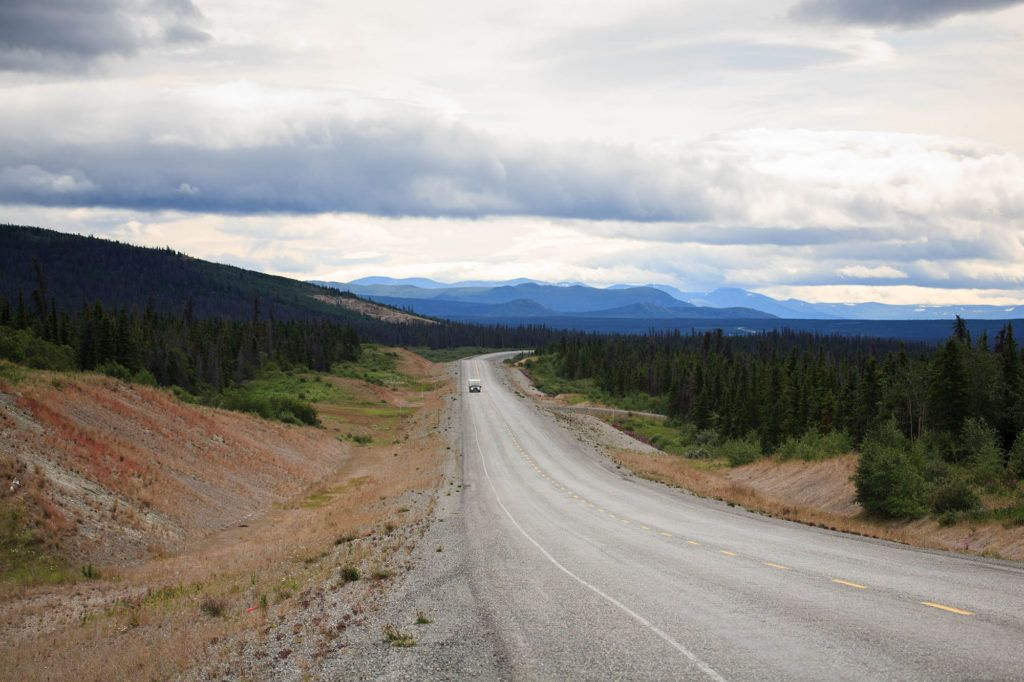 Once you have docked, you get to drive your own vehicle on the Alaska Highway.