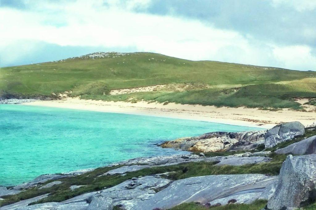 Beautiful beach on Harris Island, UK.