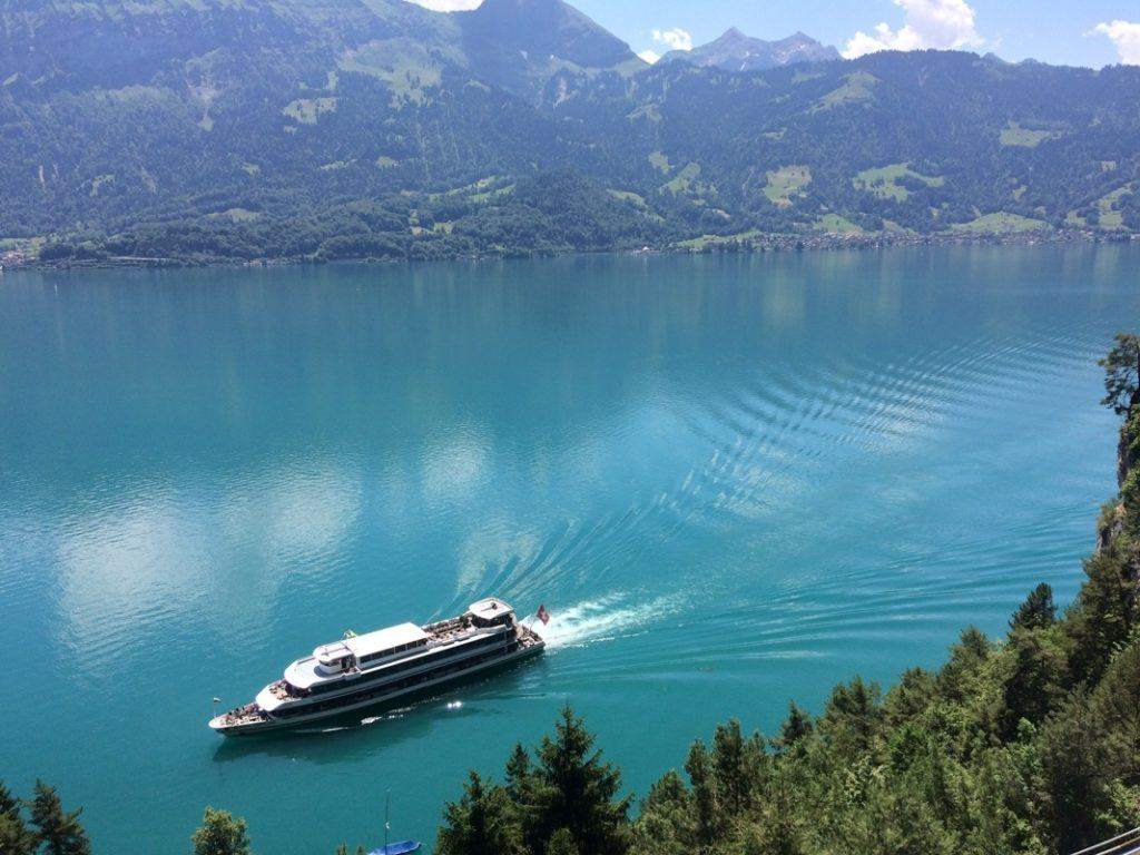 No summer in Europe is complete without a lake cruise, like here in Interlaken.