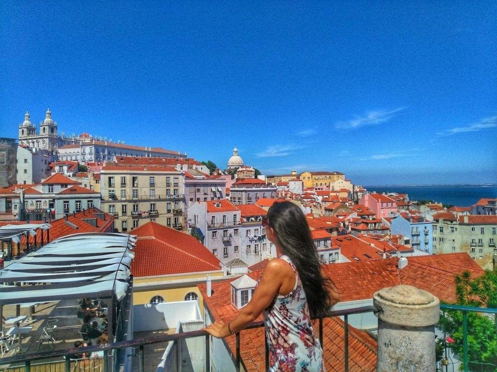Rooftops of Lisbon view.