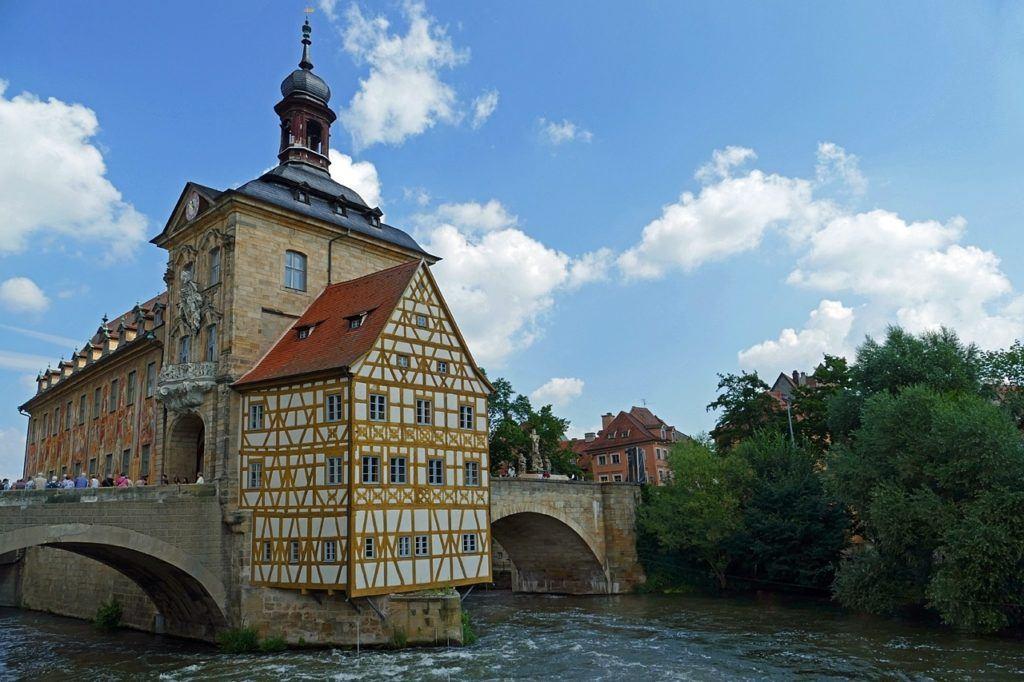 Beautiful baroque bridge in Bamberg.