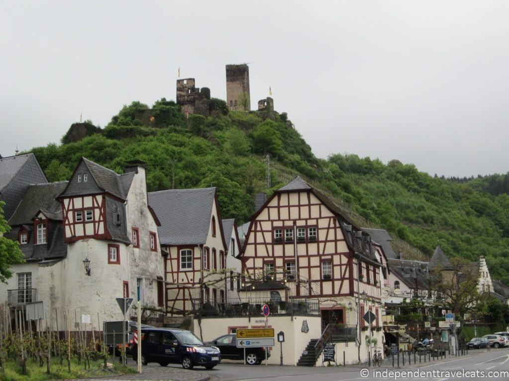 Beilstein castle ruins on the hill above the village.