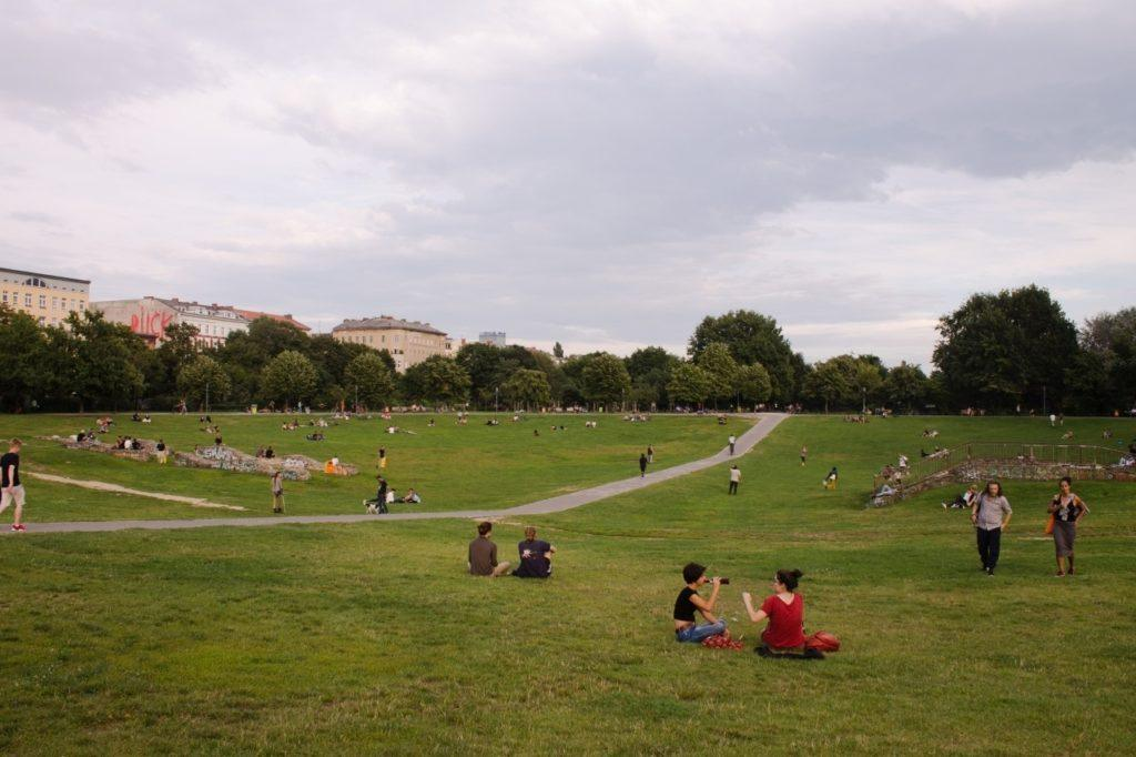 One of the many green parks in Berlin.