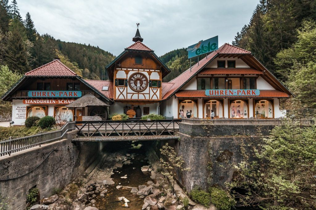 Giant Cuckoo Clock on a bridge in the Black Forest.