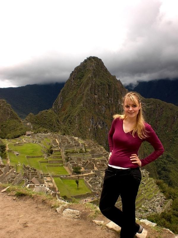 Barbara at Machu Picchu.