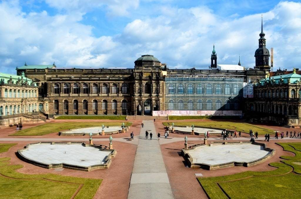 Zwinger palace courtyard in Dresden.