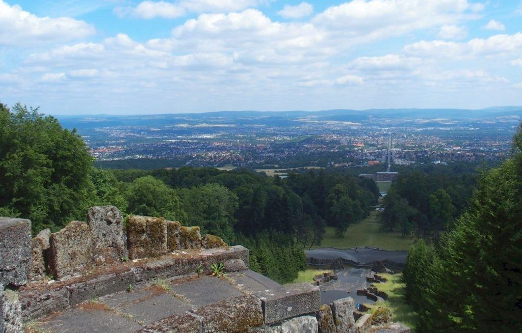 The view from Bergpark Willemshohe in Kassel.