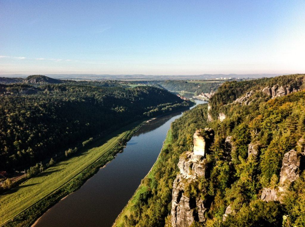 Saxon Switzerland. in Germany.