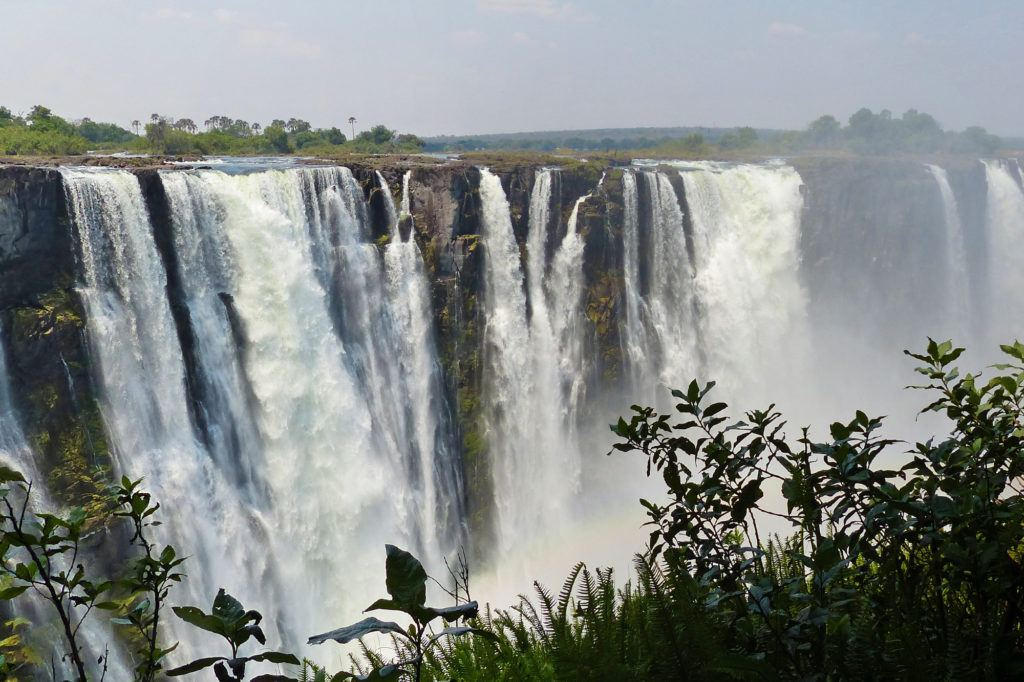 Victoria Falls at the end of our Rovos Rail journey.