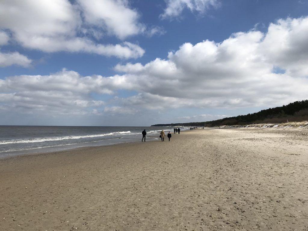 Long sandy beach on Usedom Island.