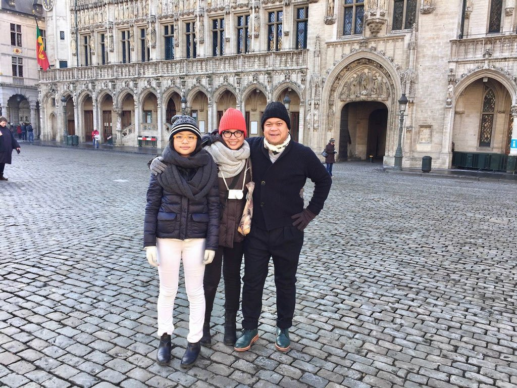Brenda has traveled far and wide with her family, here in Belgium.