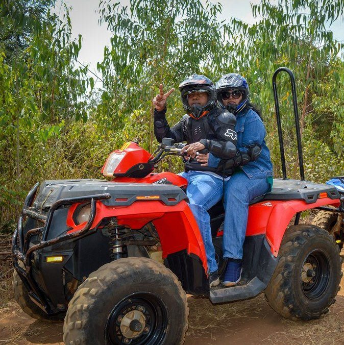 4 wheeling is one of the many adventure activities they've done.