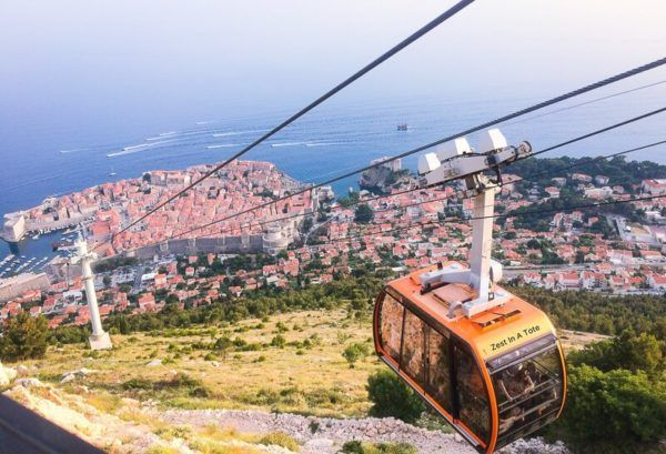 Cable Car, Dubrovnik, Croatia.