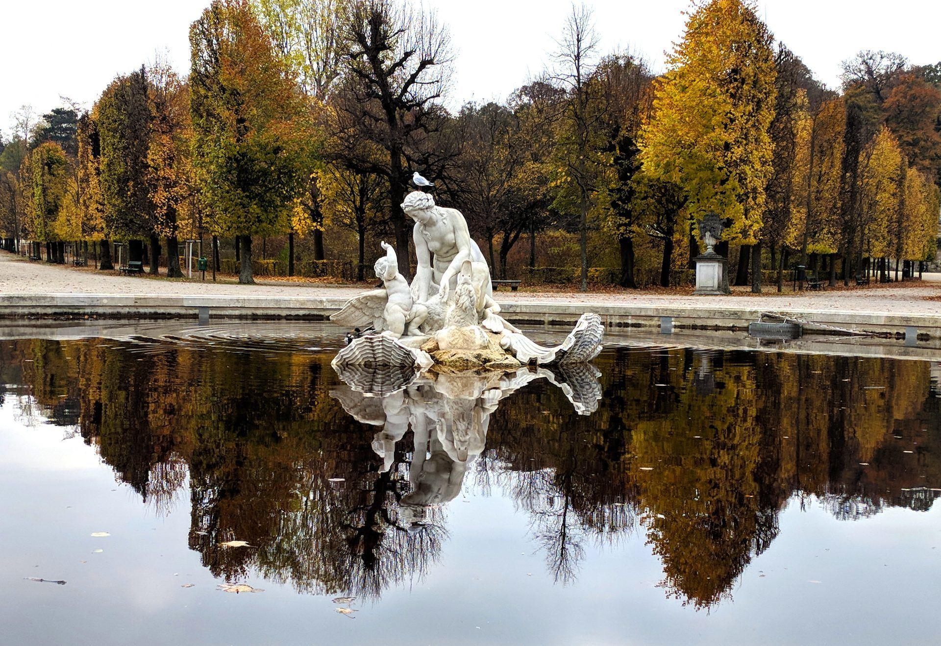 Vienna, Austria with autumn foliage is beautiful.